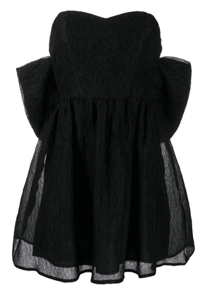 P.A.R.O.S.H. oversized bow mini dress - Black
