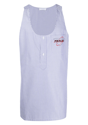 Prada striped tank top - Blue
