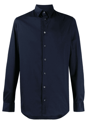 Giorgio Armani regular-fit cotton shirt - Blue