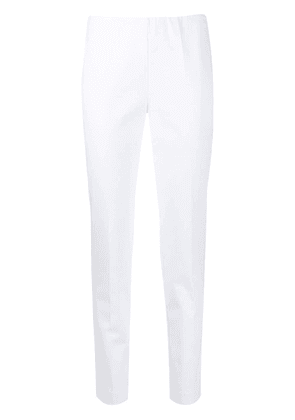 P.A.R.O.S.H. mid-rise slim fit trousers - White