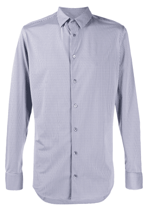 Giorgio Armani striped slim-fit shirt - Blue
