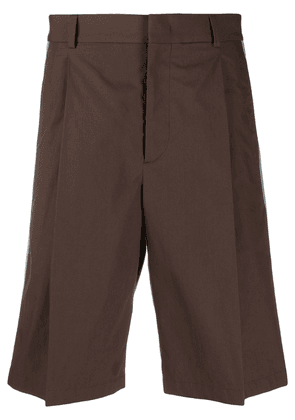 Valentino side panelled bermuda shorts - Brown