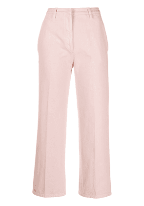 Prada high-waisted cropped jeans - PINK