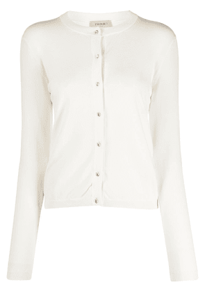 Twin-Set crystal buttoned cardigan - White