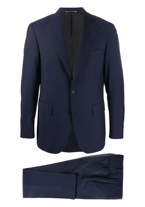 Canali regular fit striped two piece suit - Blue