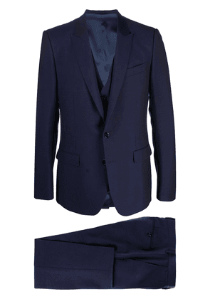 Dolce & Gabbana three-piece formal suit - Blue