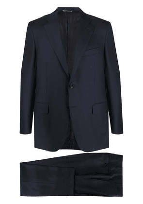 Canali windowpane check suit - Blue