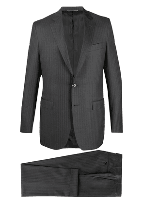 Canali pinstriped two-piece suit - Grey