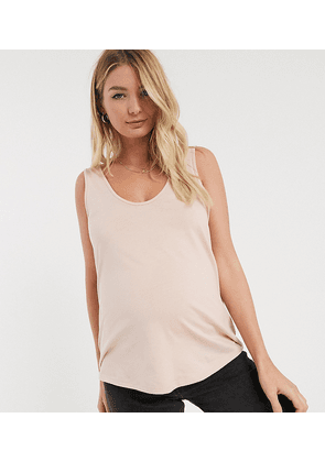 ASOS DESIGN Maternity ultimate organic cotton scoop neck vest in pink
