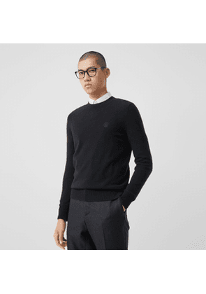 Burberry Monogram Motif Cashmere Sweater, Black