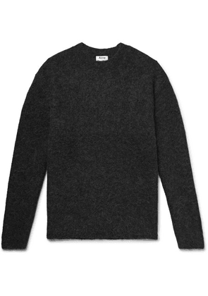 Acne Studios - Mélange Textured-knit Sweater - Charcoal