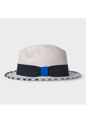 Men's Grey Trilby Hat With Colourful Trims
