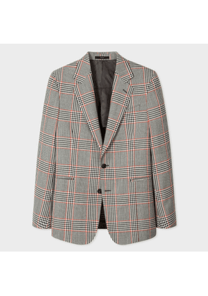 Men's Tailored-Fit Prince Of Wales Check Wool Blazer