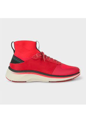 Men's Red Reflective 'Zookie' Sock Trainers