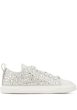 Giuseppe Zanotti low top embellished sneakers - White