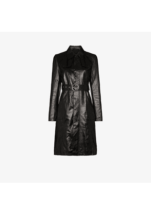Maison Margiela belted leather trench dress