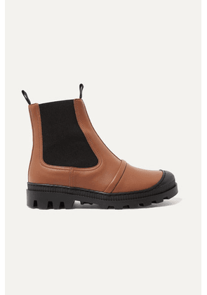 Loewe - Rubber-trimmed Leather Chelsea Boots - Tan