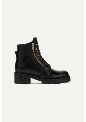 Balmain - Army Leather Ankle Boots - Black