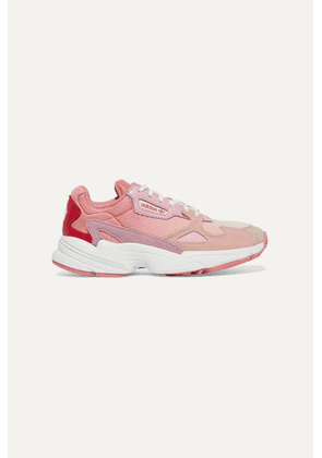 adidas Originals - Falcon Mesh, Suede And Leather Sneakers - Pink