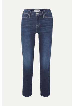 FRAME - Le High Cropped Straight-leg Jeans - Mid denim