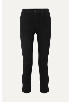 J Brand - Ruby Cropped High-rise Slim-leg Jeans - Black