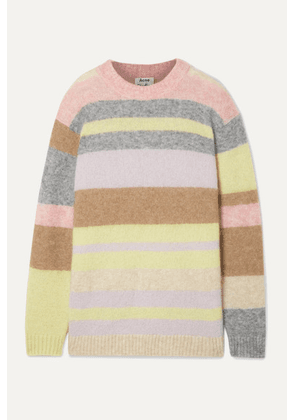 Acne Studios - Kalbah Striped Knitted Sweater - Lilac