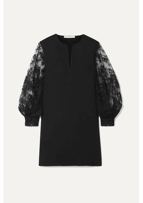 Givenchy - Cady And Lace Mini Dress - Black