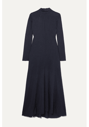 A.W.A.K.E. MODE - Renton Ribbed-knit Midi Dress - Navy