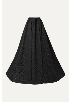 Rosie Assoulin - Pleated Glittered Woven Maxi Skirt - Black