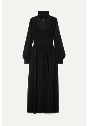 Diane von Furstenberg - Jersey Turtleneck Maxi Dress - Black