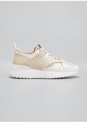 Perforated Leather Running Sneakers