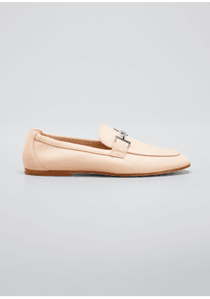 Double-T Leather Loafers
