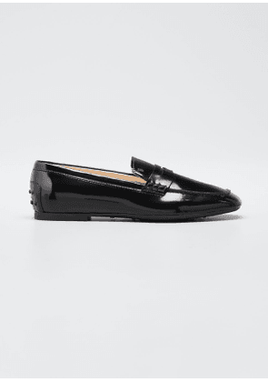 Patent Rubber-Sole Loafers