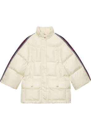 Gucci Web-panelled padded jacket - NEUTRALS