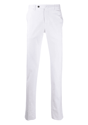 Pt01 slim-fit mid-rise chinos - White