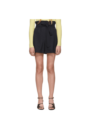 3.1 Phillip Lim Navy Paperbag Waist Shorts