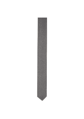 Giorgio Armani Blue and White Double Knit Tie