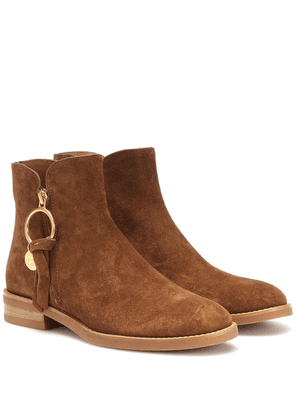 Louise Flat suede ankle boots