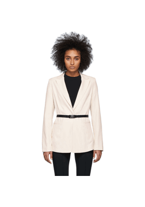 John Elliott Off-White Belted Blazer