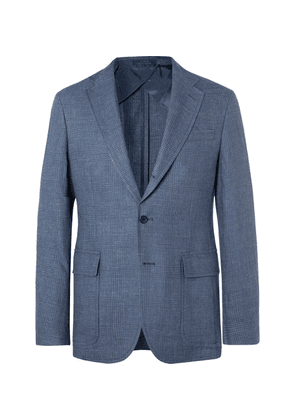 Polo Ralph Lauren - Navy Prince Of Wales Checked Linen And Wool-blend Blazer - Navy