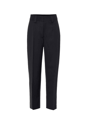 Mid-rise cropped straight pants