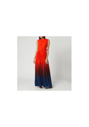 Solace London Women's Willow Maxi Dress - Blood Orange/Ombre Teal - UK 8