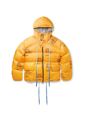 Off-White - Logo-print Quilted Shell Down Jacket - Yellow