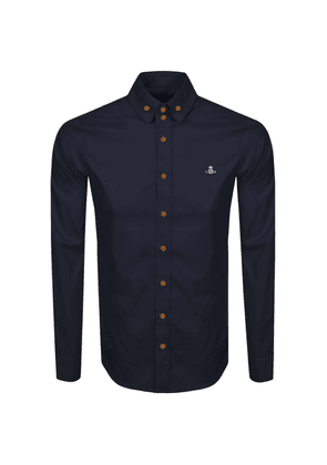 Vivienne Westwood Long Sleeved Shirt Navy
