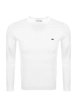 Lacoste Crew Neck Long Sleeved T Shirt White
