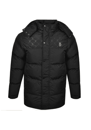 Luke 1977 Longard Quilted Hooded Jacket Black
