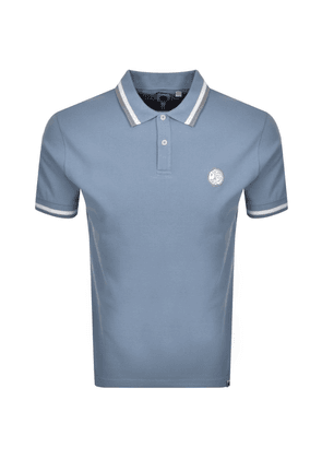 Pretty Green Curving Short Sleeved Polo Blue