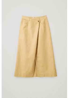 COTTON SKIRT WITH WRAP DETAIL