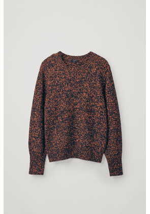 SPECKLED COTTON-WOOL SWEATER