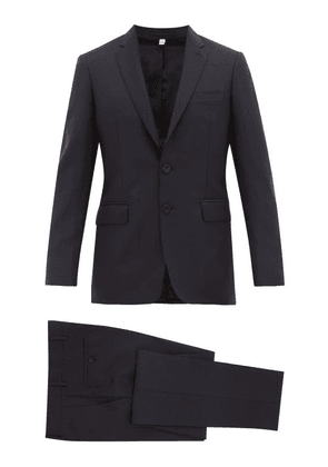 Burberry - Single-breasted Wool-blend Crepe Suit - Mens - Navy